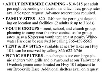 Whitewater Canoe Camping Brookville In